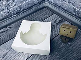 *10 шт* / Коробка под зефир / *h=6* / 150х150х60 мм / Белая / окно-цыпленок / Пасха