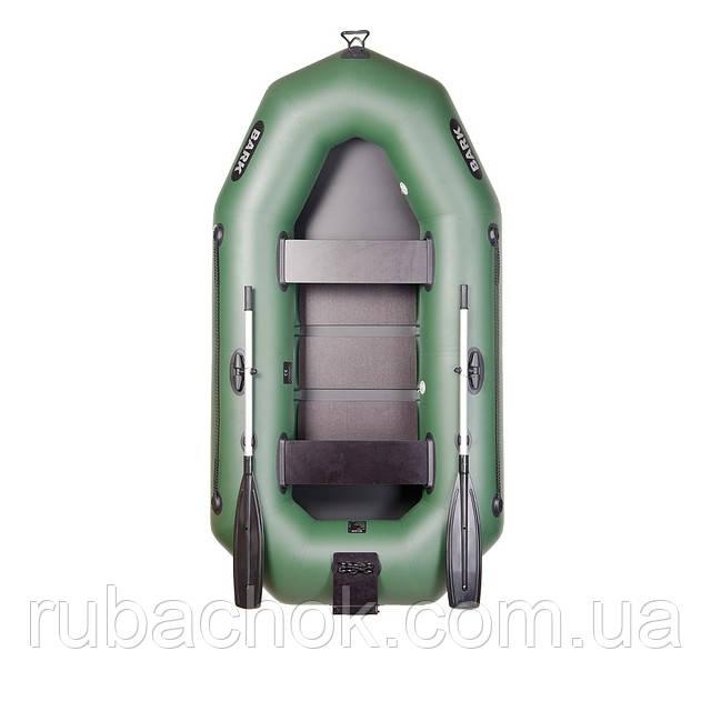 Двухместная гребная надувная лодка Bark (Барк) B-250N (с навесным транцем)