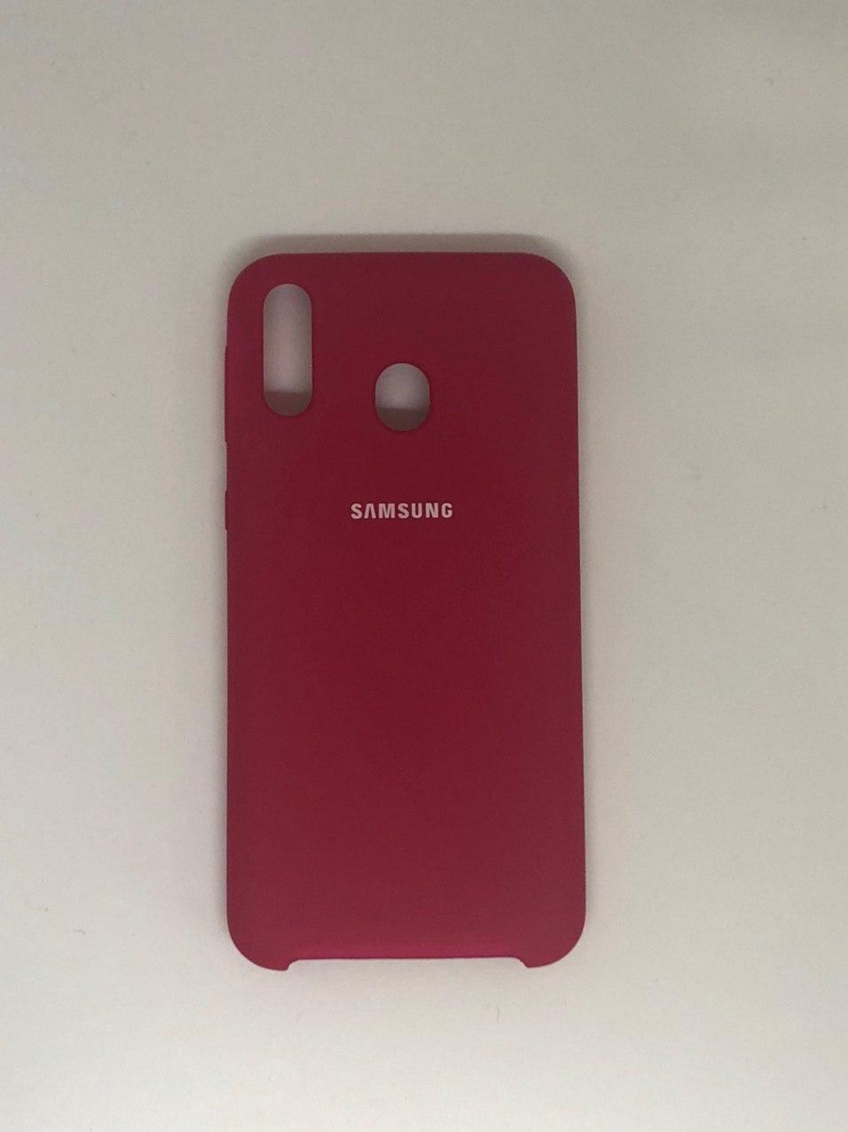 "Чехол на Samsung М 20 №36 ""Темно-розовый"""