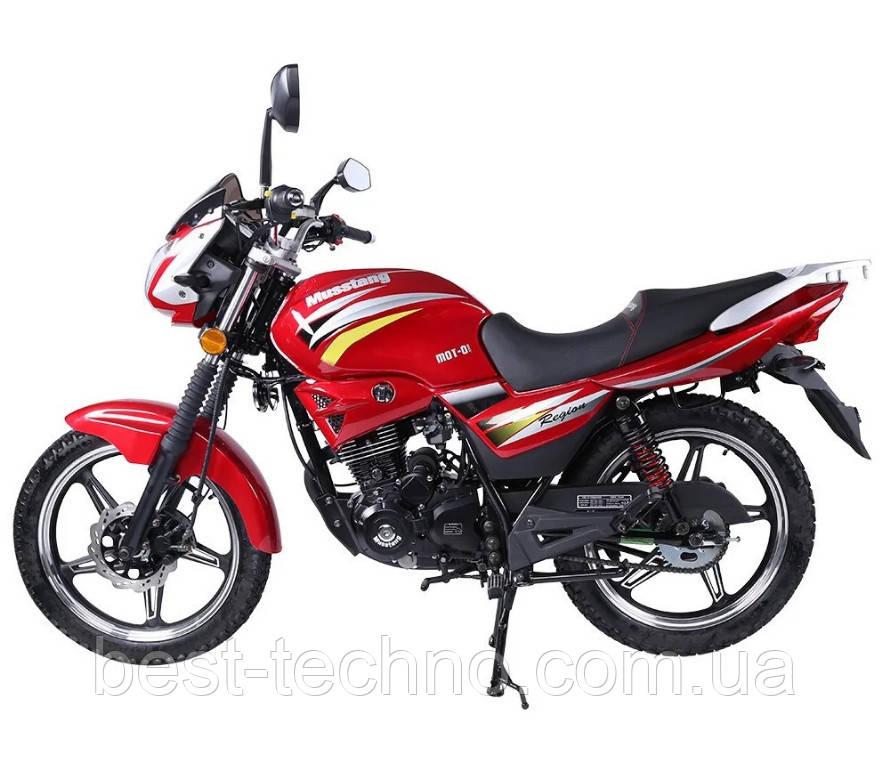Мотоцикл Musstang Region MT150 red (Мусстанг Регион МТ150 красный)