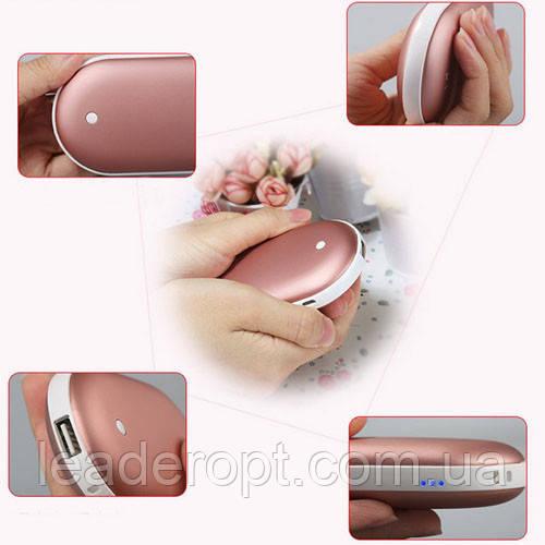 [ОПТ] Грелка для рук Pebble hand warmer + power bank 5000mah