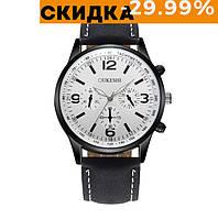 Мужские часы на руку Oukeshi Черный с белым (разные цвета)