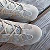 Бежевые серые Adidas Yeezy 500 эко - замша  КОПИЯ  женские кроссовки адидас изи 500 \ размеры: 36-39, фото 3