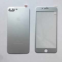 Защитное стекло 5D Full Screen iPhone 7 Plus/8 Plus -белое (комплект)