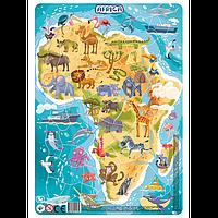 Пазл з рамкой Африка