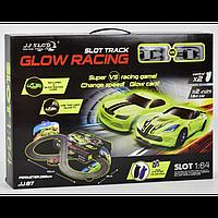 Автотрек Glow Racing,  р/у, от сети 220V, 2 неоновые машинки