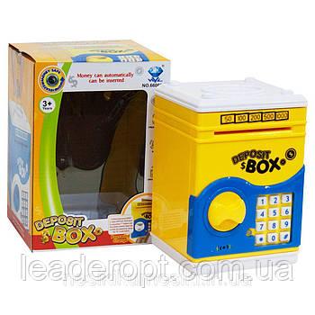 [ОПТ] Дитячий сейф-скарбничка зі звуком і кодовим замком