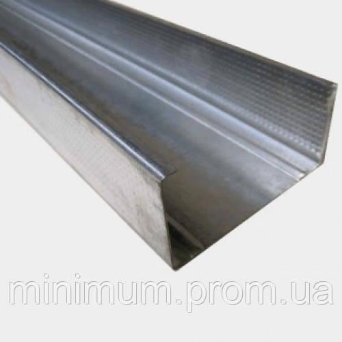 CW-100/40 Профіль для гіпсокартону стієчний перегородковий, 4 м (0,55 мм) ГОСТ