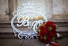 Монограма герб весільний