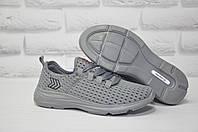 Мужские кроссовки сквозная сетка серые Restime, фото 1