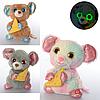 Мышка -Мягкая игрушка, звук, свет, реагирует на звук, подвижная