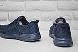 Чоловічі кросівки наскрізна сітка сині Restime, фото 3