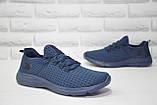Чоловічі кросівки наскрізна сітка сині Restime, фото 5