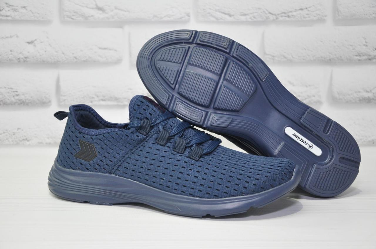 Чоловічі кросівки наскрізна сітка сині Restime
