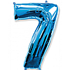 """Фольгована кулька """"Цифра 7"""" (синя) з гелієм 95 см РОКИТНЕ"""