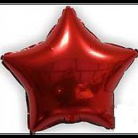 """Фольгована зірка """"18"""" (45см) червона"""