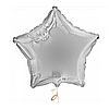 """Фольгована зірка """"18"""" (45см) срібна"""