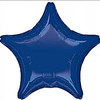 """Фольгована зірка """"18"""" (45см) темно синя"""