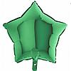 """Фольгована зірка """"18"""" (45см) зелений"""