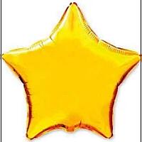 """Фольгована зірка """"18"""" (45см) апельсин"""