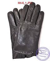 Мужские кожаные перчатки с махровой подкладкой - №M4-5, фото 1