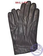 Мужские кожаные перчатки с махровой подкладкой - №M4-2