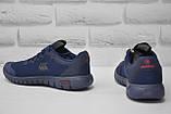 Подростковые лёгкие кроссовки сетка синие Restime, фото 2