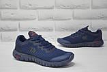Подростковые лёгкие кроссовки сетка синие Restime, фото 4