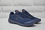 Подростковые лёгкие кроссовки сетка синие Restime, фото 3