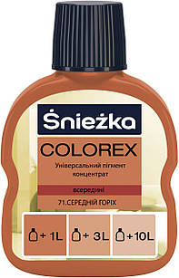 Универсальный краситель средний орех Colorex №71 Sniezka (Пигмент колер снежка)