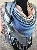 Турецкий платок с одной стороны рисунок с другой стороны переход цвета, фото 1