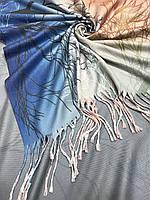 Турецкий платок с одной стороны рисунок с другой стороны переход цвета - купить на Kosinka.net