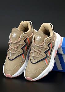 Женские кроссовки Adidas Ozweego Beige (Адидас Озвиго)