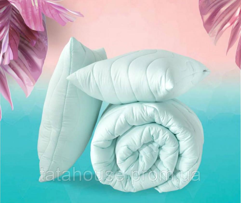 """Евро комплект """"Tropical"""" - одеяло 200х220см + 2 подушки 50х70см, пудра"""