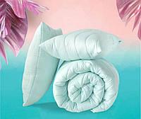 """Евро комплект """"Tropical"""" - одеяло 200х220см + 2 подушки 50х70см, пудра, фото 1"""