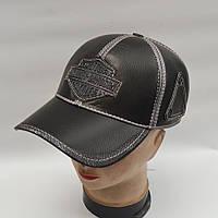 Мужская кожаная кепка с ушами - Модель 29-134