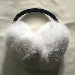 Меховые наушники(белый), фото 2