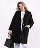 Пальто чорне для пишних дам, з 42 по 74 розмір