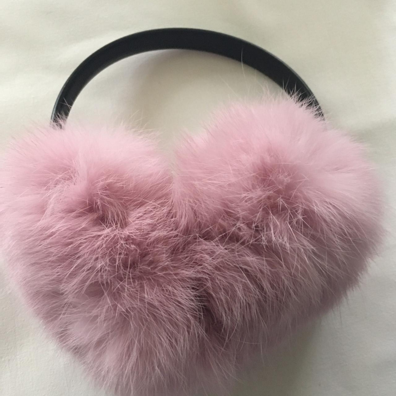 Меховые наушники(светло-розовый)