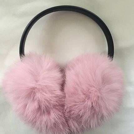 Меховые наушники(светло-розовый), фото 2