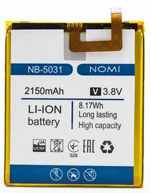 Аккумулятор (Батарея) для Nomi NB-5031 i5031 Evo X1 (2150 mAh)