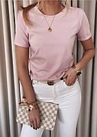 Женская футболка однотонная в расцветках