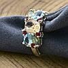 Серебряное кольцо Лето вставка разноцветные фианиты вес 4.1 г размер 20, фото 4