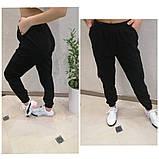 Женские стильные брюки штаны с карманами на резинке вельвет размер: 42, 44, 46, 48, фото 4