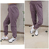 Женские стильные брюки штаны с карманами на резинке вельвет размер: 42, 44, 46, 48, фото 3