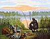 Картина по номерам Відпочинок біля річки 40*50см Идейка KHO2241 Раскраска по цифрам, фото 2