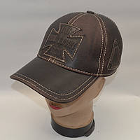 Мужская кожаная кепка с ушами - Модель 29-135