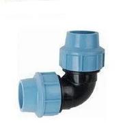 Колено зажимное 110х110 для полиэтиленовых пнд труб (Santehplast)
