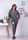 Спортивный костюм трикотаж ангора батник+штаны размер: от 48 до 62, фото 4