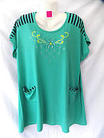 Женская футболка батал 5XL-8XL купить оптом BD316